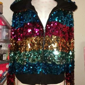 Vs pink 2012 fashion show sequined  jacket